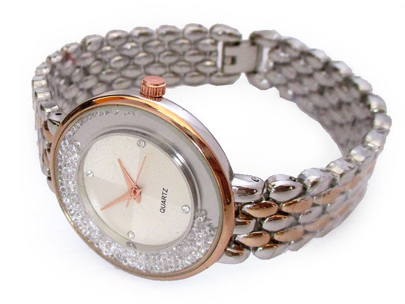 Rhinestone Two Tone Women's Watch Price in Pakistan
