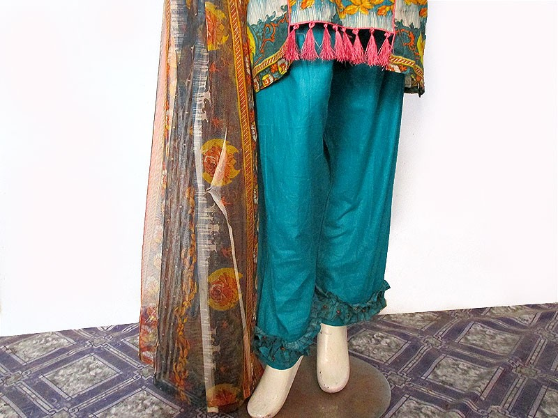 3 Piece Ready Made Embroidered Lawn Suit by Hina Collection