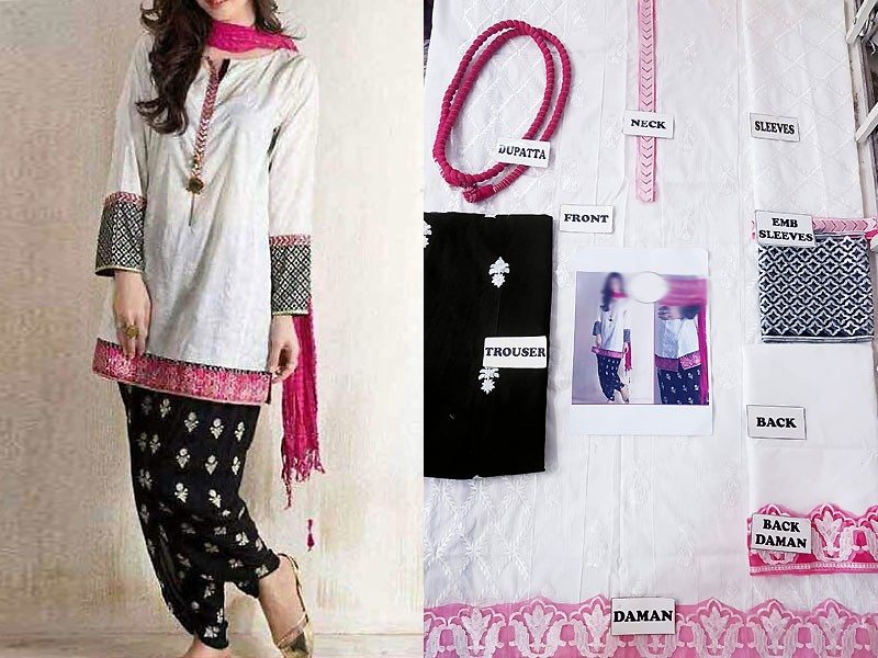 Embroidered Lawn Suit with Embroidered Trouser