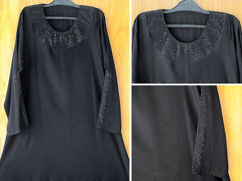 Self Print Jersey Abaya 2018 Design with Scarf Price in Pakistan