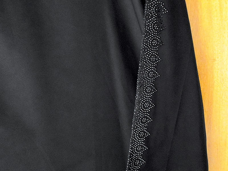 Black Nida Fabric Abaya with Scarf