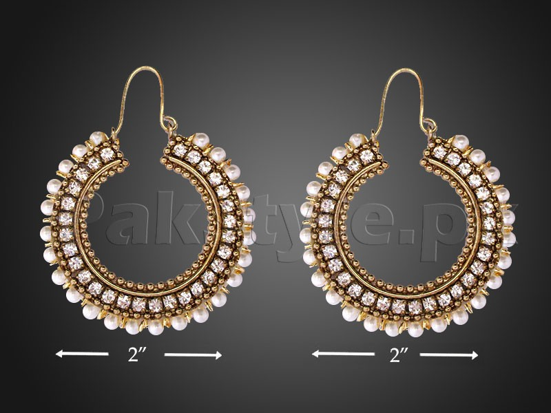 Antique Color Pearls Earrings