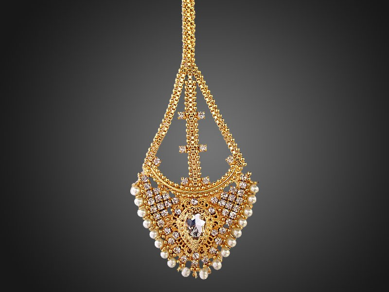 Pearls Golden Side Matha Jhoomar Price in Pakistan