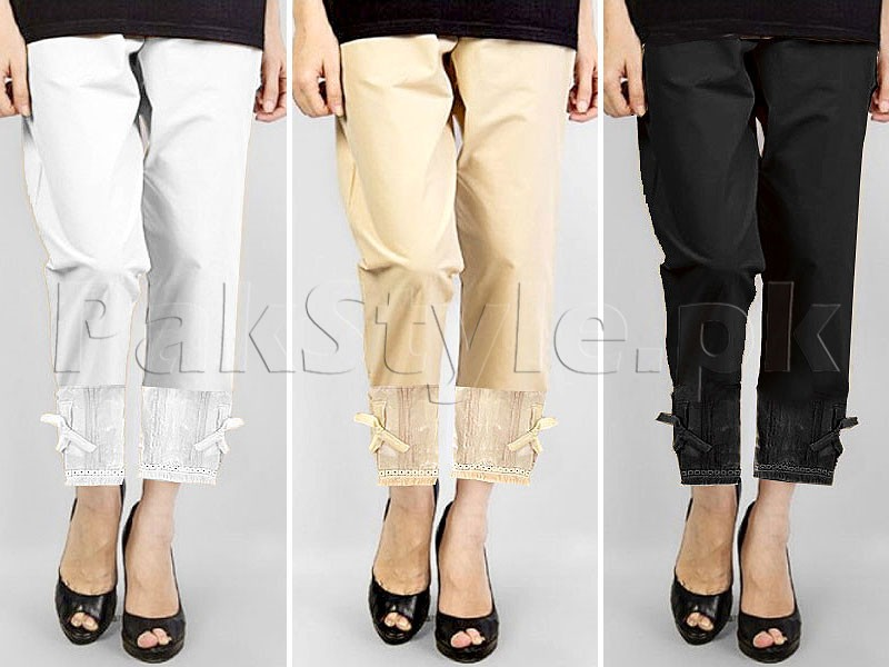Pack of 3 Bow Style Cigarette Pants