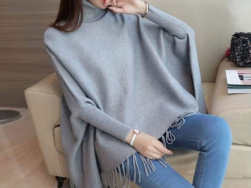 b8821b59e3526d Grey Poncho Style Fleece Top Price in Pakistan (M011465) - 2019 ...