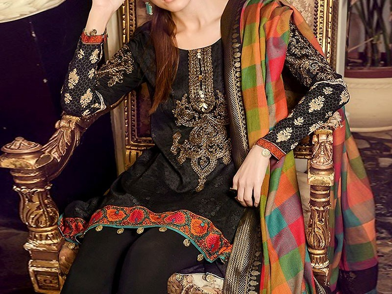 Embroidered Khaddar Suit with Wool Shawl Dupatta Price in Pakistan