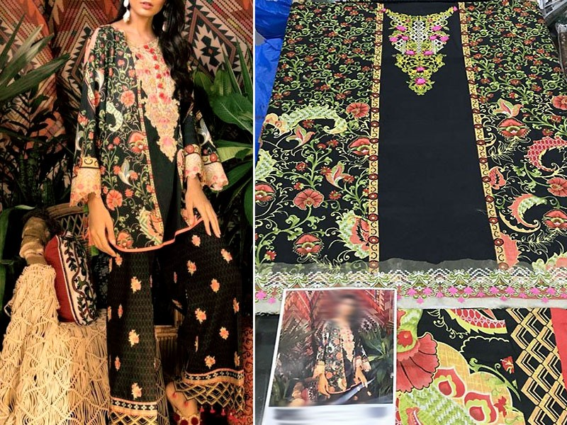 Embroidered Khaddar Suit with Wool Shawl Dupatta