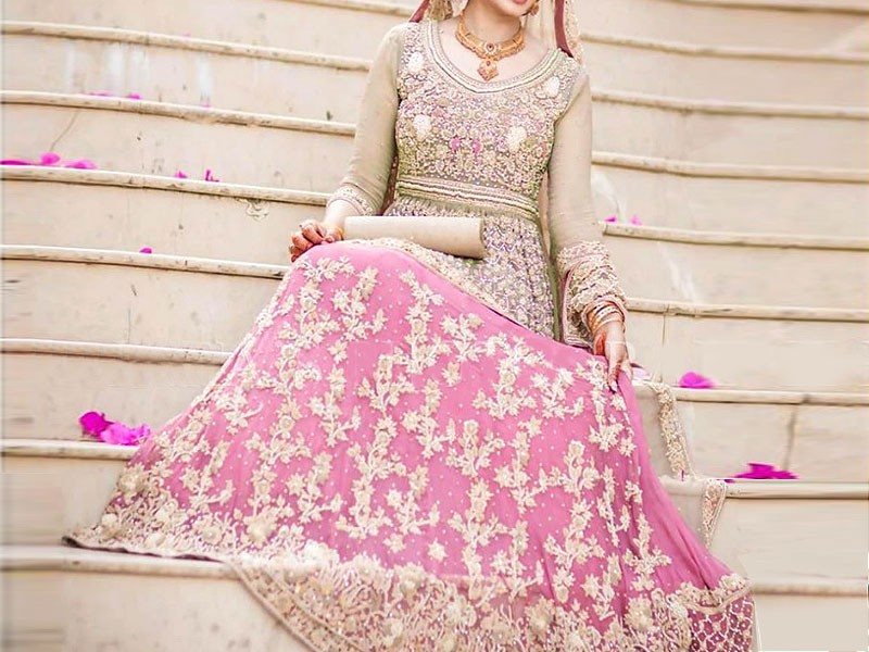 dd3de528727 Heavy Embroidered Chiffon Bridal Dress Price in Pakistan (M011589 ...