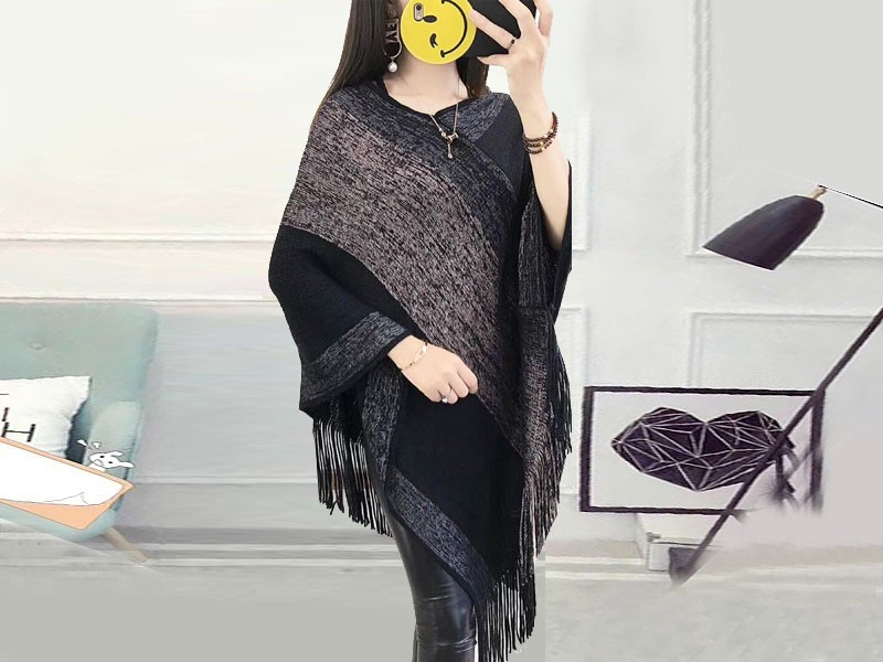 Women's Winter Wool Cape Shawl