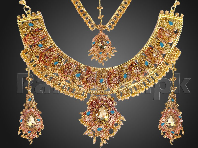 Heavy Bridal Golden Jewellery Set