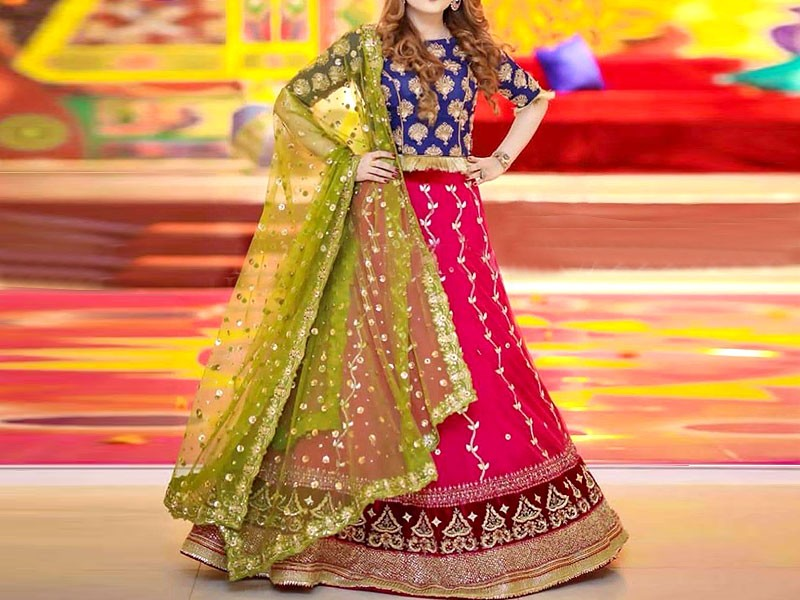 Embroidered Ferozi Color Chiffon Party Dress Price in Pakistan