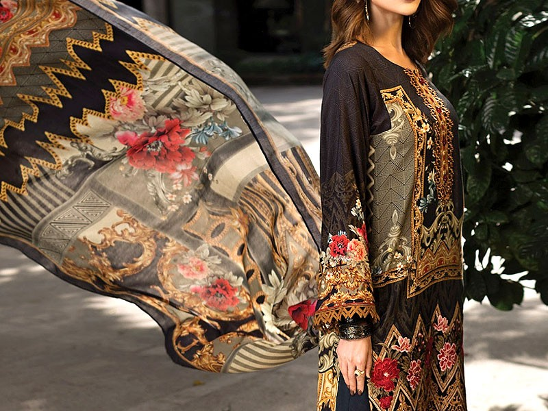 Embroidered Lawn Collection 2019 with Lawn Dupatta