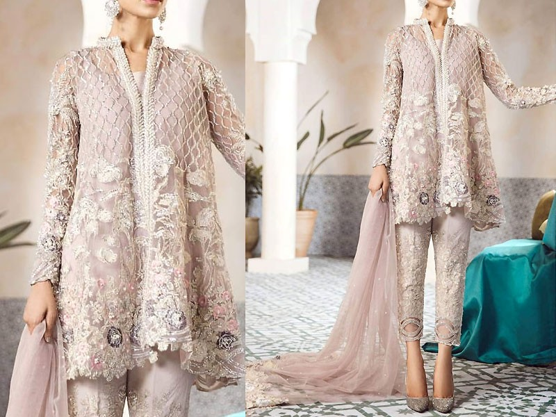 Embroidered Net Bridal Dress Price In Pakistan (M011663