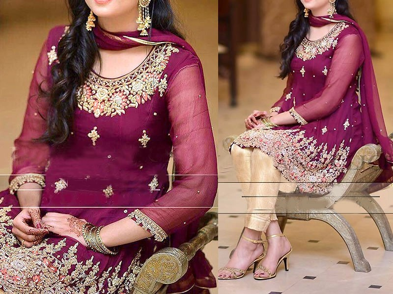 Embroidered Chiffon Party Dress Price in Pakistan