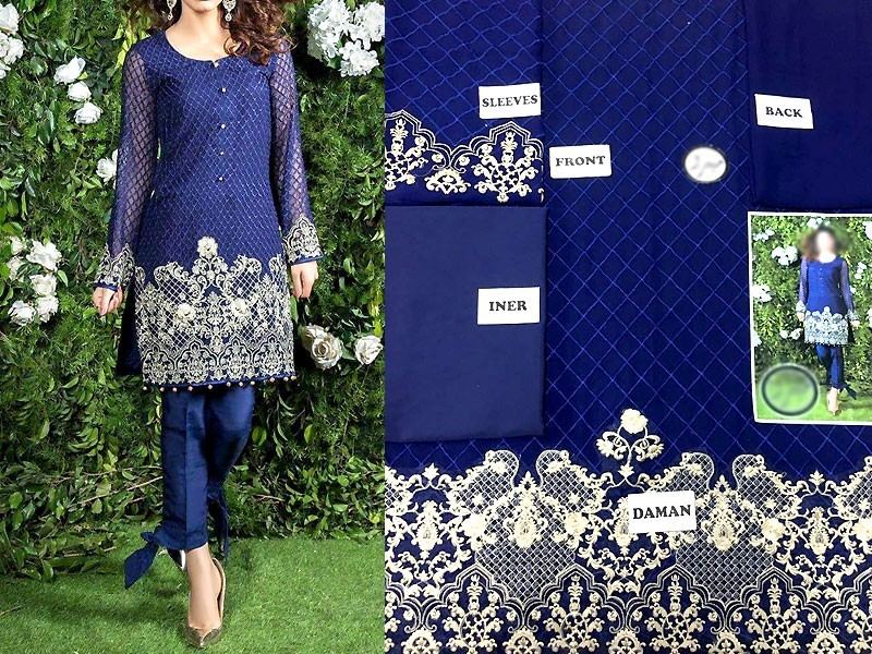 Pack of 2 Embroidered Chiffon Kurtis