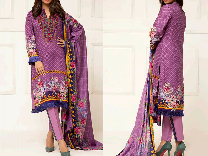 ZS Textile RangReza Lawn 2019 with Lawn Dupatta ZS-1A Price in Pakistan
