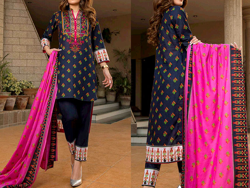 ZS Textile RangReza Lawn 2019 with Lawn Dupatta ZS-4A Price in Pakistan