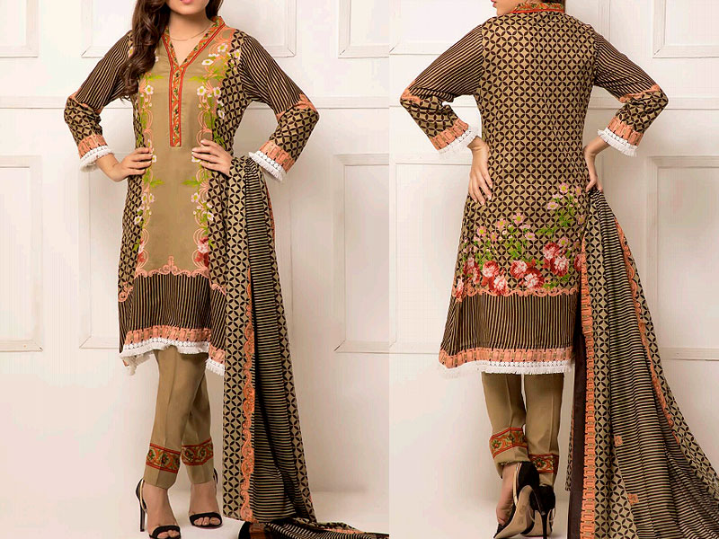 ZS Textile RangReza Lawn 2019 with Lawn Dupatta ZS-5B Price in Pakistan