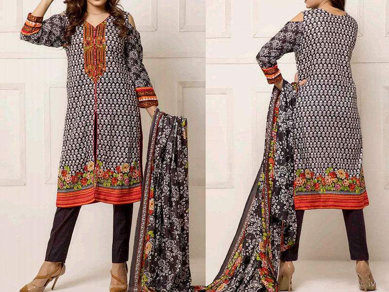 ZS Textile RangReza Lawn 2019 with Lawn Dupatta ZS-7B Price in Pakistan