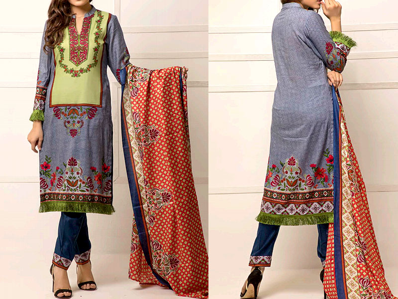 ZS Textile RangReza Lawn 2019 with Lawn Dupatta ZS-9A Price in Pakistan