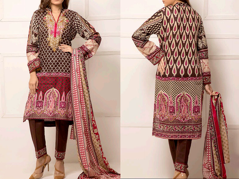 ZS Textile RangReza Lawn 2019 with Lawn Dupatta ZS-10A Price in Pakistan