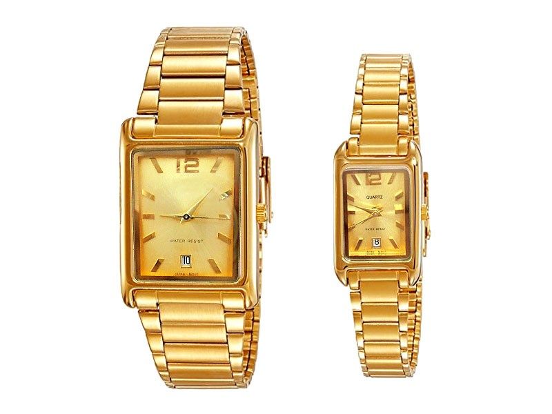 Elegant Golden Couple Watches Price in Pakistan