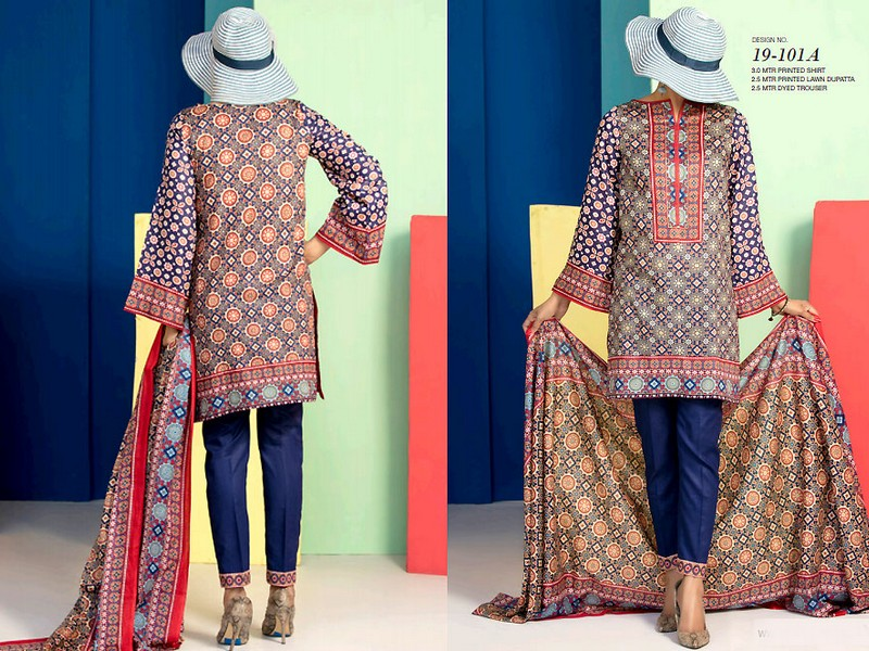 VS Lawn Collection 2019 with Lawn Dupatta VS-101A