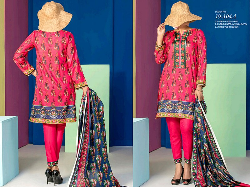 VS Lawn Collection 2019 with Lawn Dupatta VS-104A