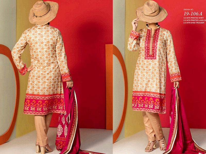 VS Lawn Collection 2019 with Lawn Dupatta VS-106A