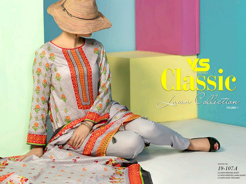 VS Lawn Collection 2019 with Lawn Dupatta VS-107A