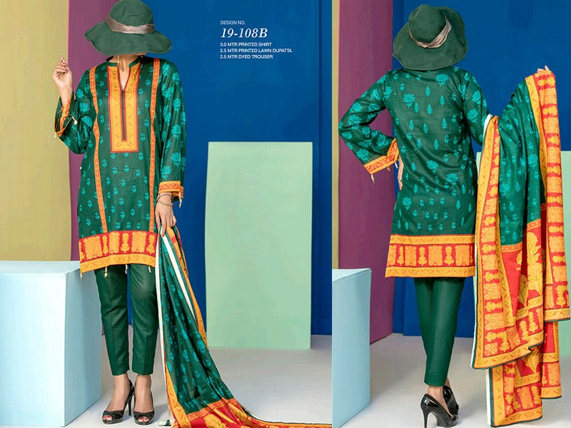 VS Lawn Collection 2019 with Lawn Dupatta VS-108B