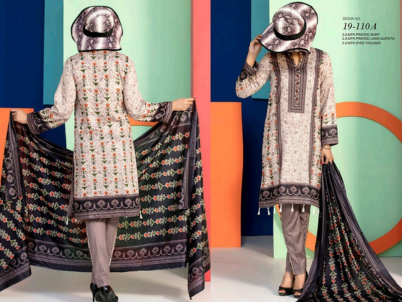 VS Lawn Collection 2019 with Lawn Dupatta VS-110A