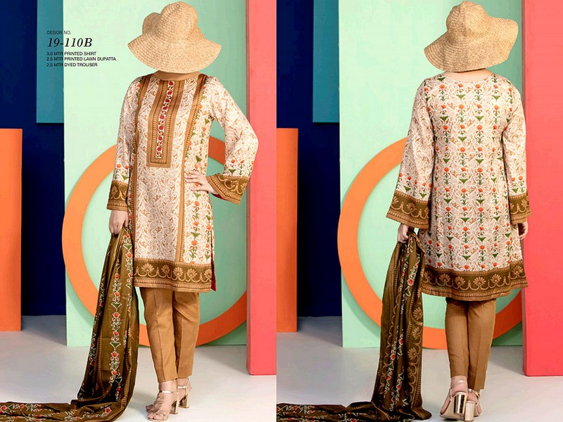 VS Lawn Collection 2019 with Lawn Dupatta VS-110B