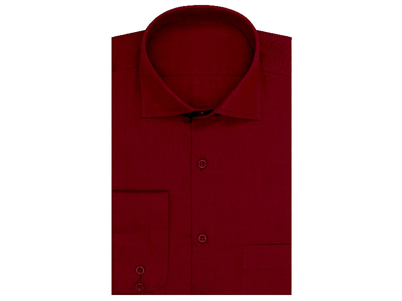 Maroon Regular Fit Plain Shirt