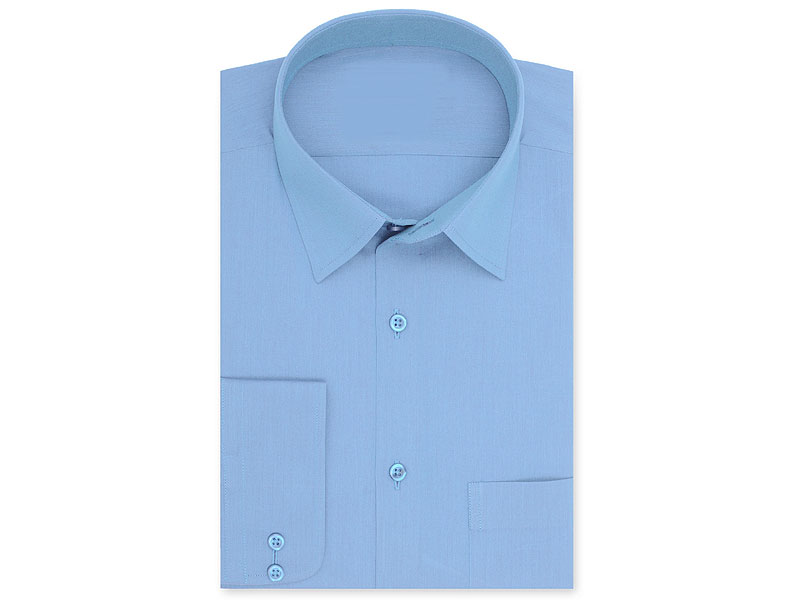 Sky Blue Men's Regular Fit Plain Shirt