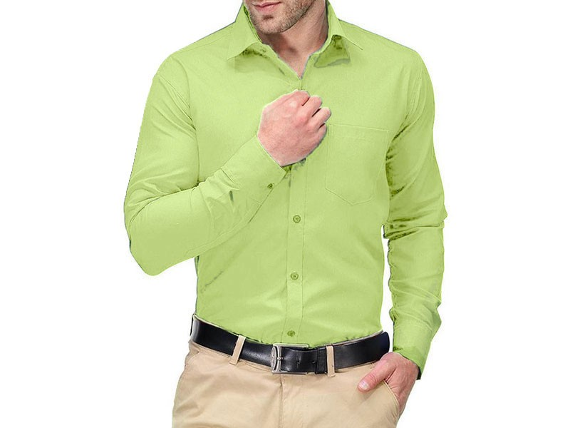 Men's Regular Fit Plain Shirt