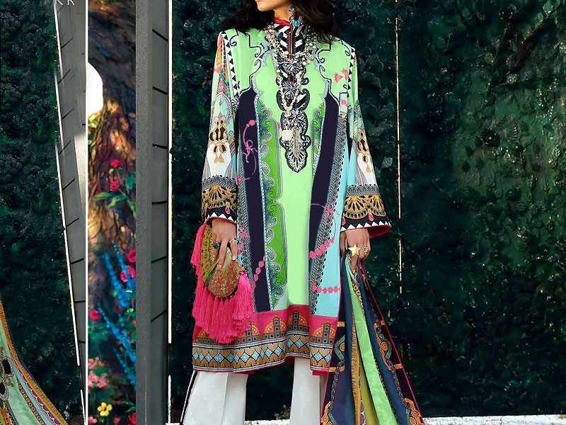 ZS Textile RangReza Lawn 2019 with Lawn Dupatta ZS-2B Price in Pakistan