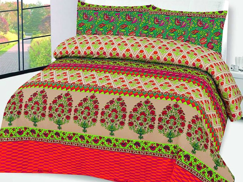 King Size Polyester Cotton Bed Sheet with 2 Pillow Covers Price in Pakistan
