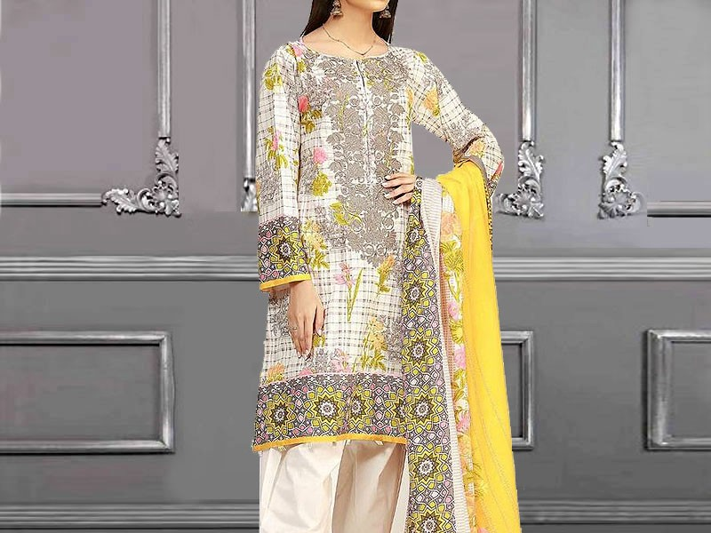 Rashid Classic Lawn 2018 with Lawn Dupatta 215-B Price in Pakistan