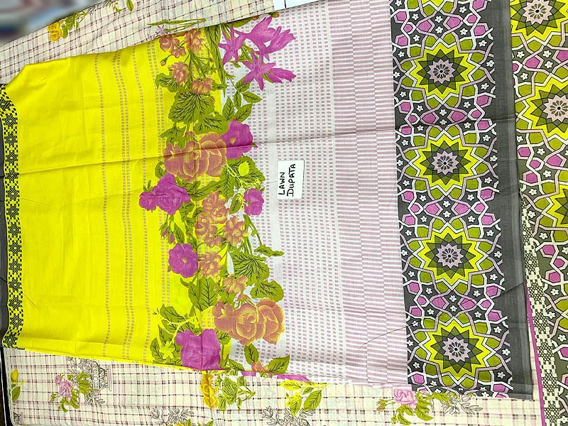 Eid Collection: Embroidered Lawn Suit with Lawn Dupatta