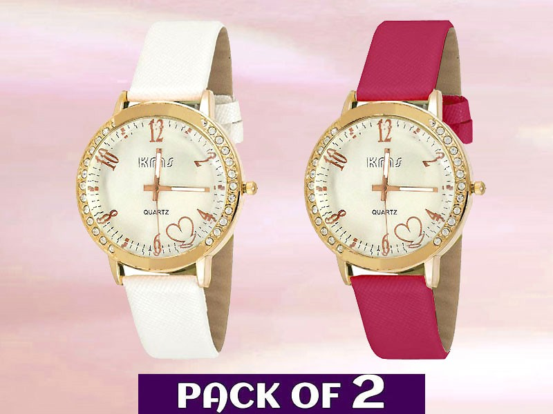 Pack of 2 Fashion Watches for Girls