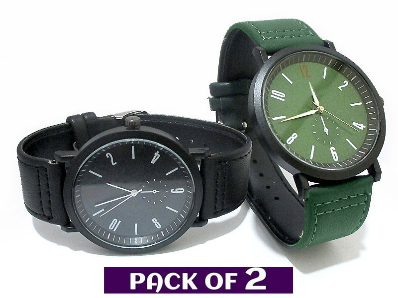 Pack of 2 Men's Fashion Watches