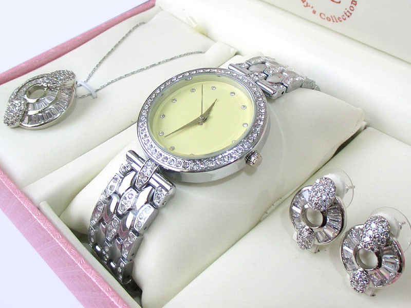Elegant Jewellery & Watch Gift Set Price in Pakistan
