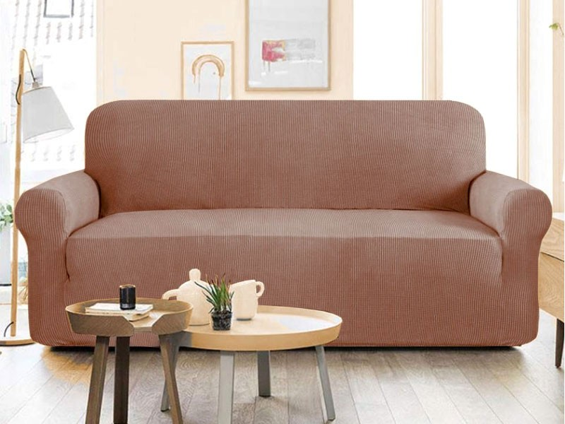 5 Seater Jersey Sofa Protector Slipcovers - Beige Price in Pakistan