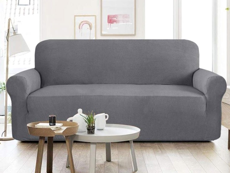 5 Seater Jersey Sofa Protector Slipcovers - Grey Price in Pakistan