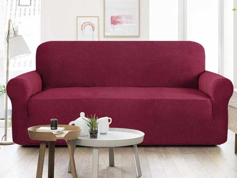 5 Seater Jersey Sofa Protector Slipcovers - Maroon Price in Pakistan