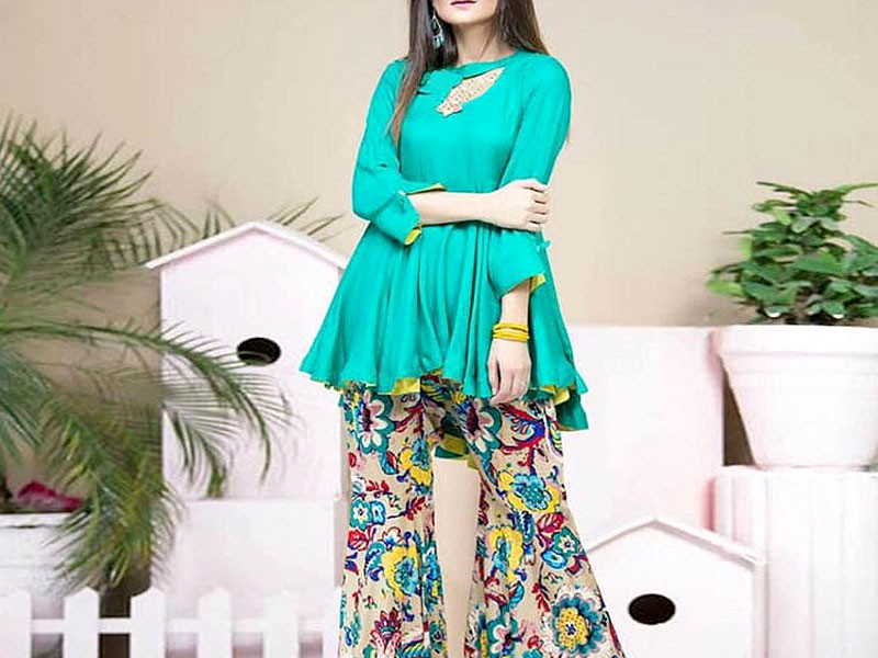 Trendy Embroidered Cotton Dress with Chiffon Dupatta Price in Pakistan