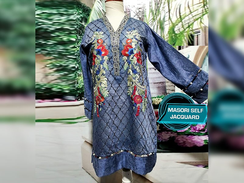 Designer Embroidered Ready-to-Wear Masoori Kurti Price in Pakistan