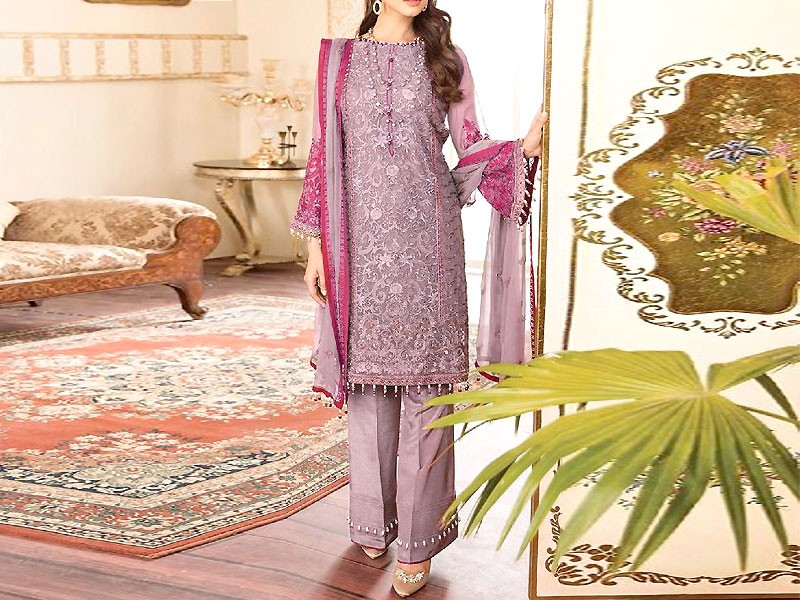 Handwork Embroidered Chiffon Party Dress
