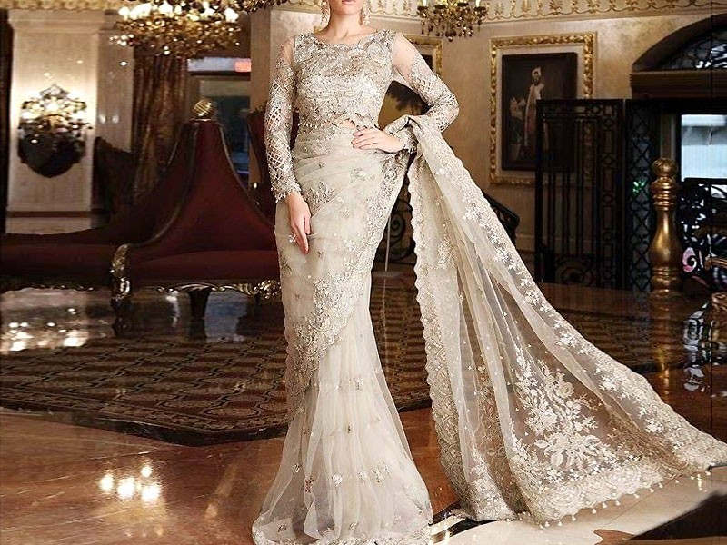 Heavy Embroidered Green Velvet Wedding Dress Price in Pakistan